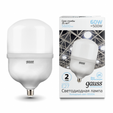 Лампа мощная светодиодная  Gauss Elementary 60W E27/E40 T160