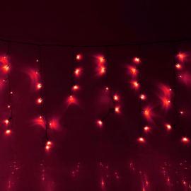 Гирлянда Комнатная Бахрома 1х0.6м (Красный) УМС