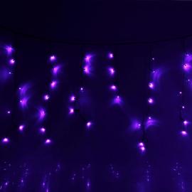 Гирлянда Комнатная Бахрома 1х0.6м (Фиолетовый) УМС