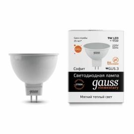 Лампа светодиодная Gauss elementary 9 Watt