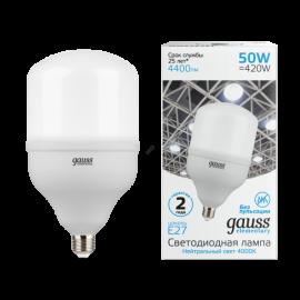 Лампа мощная светодиодная Gauss Elementary 50W E27/E40 T140