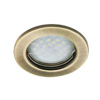 Встраиваемый светильник Ecola DL90 GU5.3 Черненая Бронза
