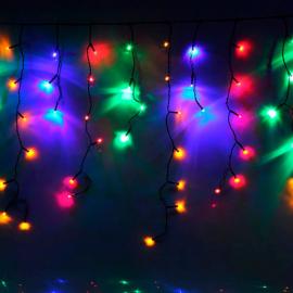 Гирлянда Комнатная Бахрома 1.2х0.6м (Разноцветный) УМС