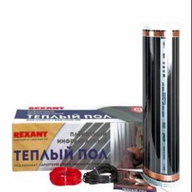 Rexant Теплый пол (пленочный инфракр.) 0,5*2м (220Вт*1м2) резка кратно 25см RXM 220-0,5-1 51-0501-4