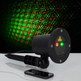 """Световой прибор """"Точки"""", d=10 см, 5 В, IP65, лазерный, 1 картинка, шнур 5 метров"""