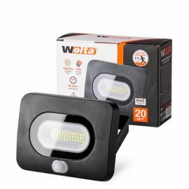 Светодиодный прожектор WOLTA WFL-20W/05s 20Вт 5700K IP65 с Датчиком