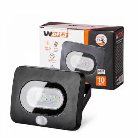 Светодиодный прожектор WOLTA WFL-10W/05s 10Вт 5700K IP65 с Датчиком