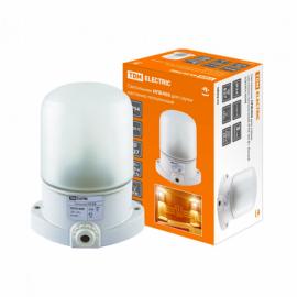 Светильник НПБ400 для сауны настенно-потолочный белый IP54, 60 Вт, белый, TDM