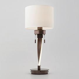 Настольная лампа со светодиодной подсветкой металл коричневый/белый Titan  Bogate's 991