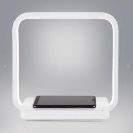Светодиодная настольная лампа с беспроводной зарядкой QI 80502/1 белый Eurosvet