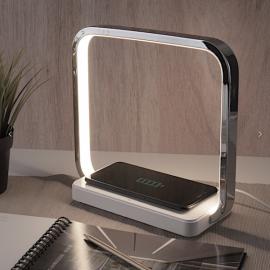 Светодиодная настольная лампа с беспроводной зарядкой QI 80502/1 хром Eurosvet