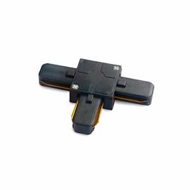 Коннектор  черный для трековых систем шинопровода T-образный Feron