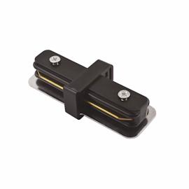 Коннектор черный для трековых систем шинопровода соединительный