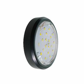 Светильник накладной легкий Черный GX53 Ecola Серебро FB5356ECD (без лампы)