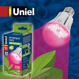 Лампа светодиодная Uniel LED-A60-9W/SP/E27/CL для растений