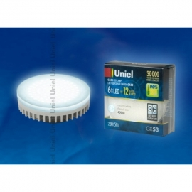 Лампа светодиодная GX53 Uniel 6W